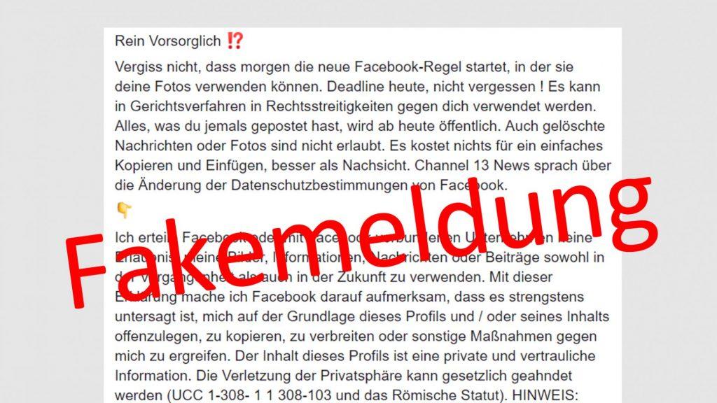Neue Facebook Regel