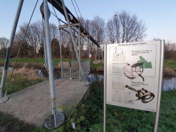 Schwebefähre an der Niers in Mönchengladbach