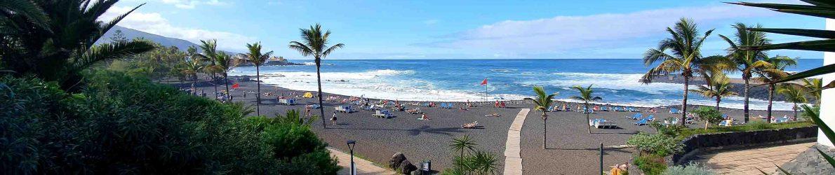 Strand Playa Jardin in Puerto de la Cruz