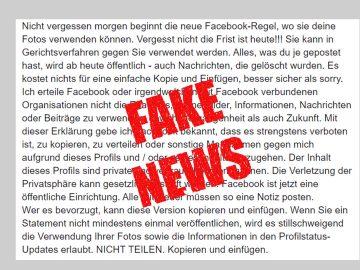 Facebookregel öffentliche Einrichtung